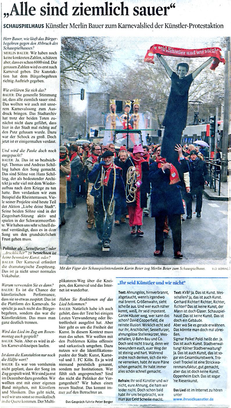 Kölner Stadt-Anzeiger Dezember 2009